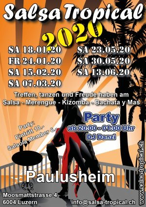 Salsa Tropical 2020 1 Semester Flyer A6 V01